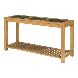 Sarreid LTD Oak Cross Wall Table