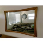 Image of Mid-Century Modern Walnut Bow Tie Mirror