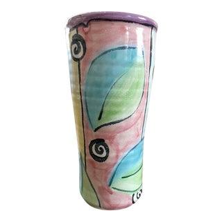 Memphis Style Pottery Vase