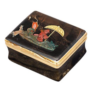 French Chinoiserie Hardstone Snuff Box