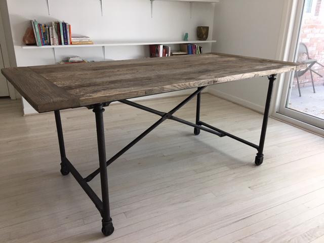 Restoration Hardware Flat Iron Dining Table Chairish : restoration hardware flat iron dining table 8554aspectfitampwidth640ampheight640 from www.chairish.com size 640 x 640 jpeg 38kB