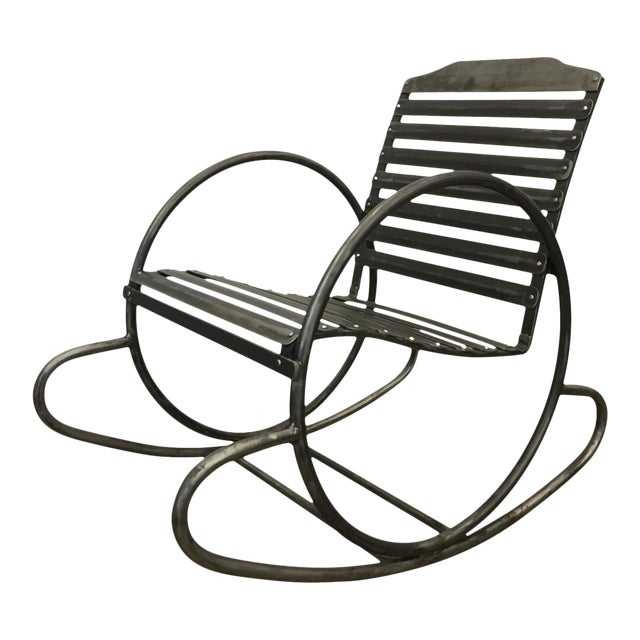Wrought Iron Porch Rocking Chair - Image 1 of 8