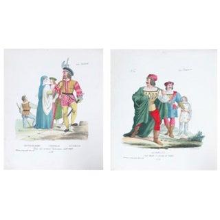 Antique 1799 Venetian Goldiere Prints - A Pair