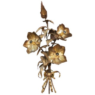Modernist Flowers Metal Sconce