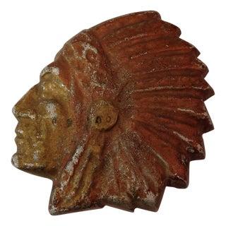 Vintage Aluminum Cast Indian Head