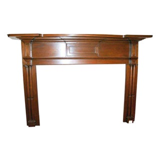 19th Century American Antique Pine Wooden Mantel