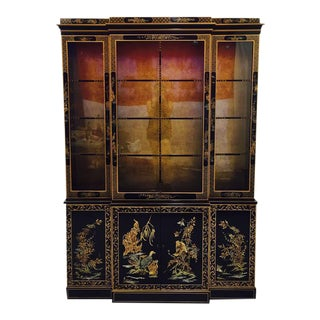 Vintage Drexel Heritage Chinoiserie China Cabinet