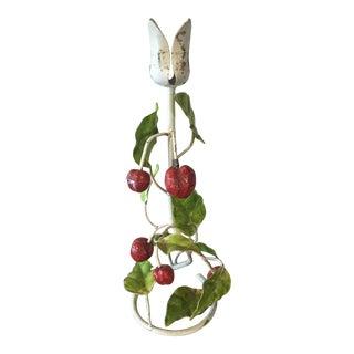 Italian Tole Cherry Candleholder