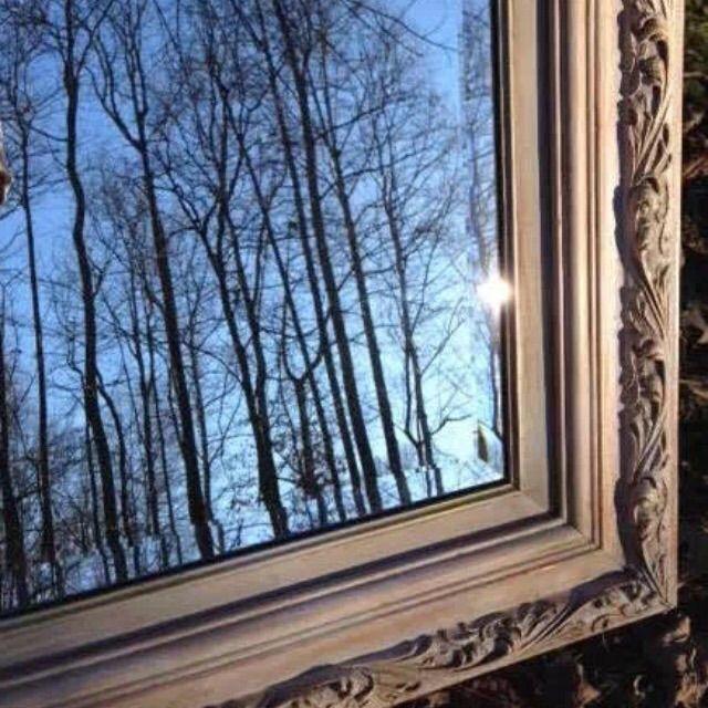Ornate Wood Framed Beveled Mirror - Image 7 of 7