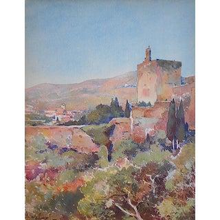 Vintage Lithograph Spanish View-Burcos
