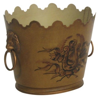 French Tole Cache Pot