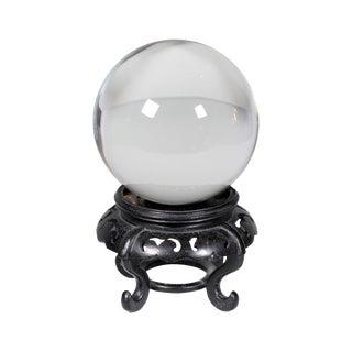 Hardwood Base Chinese Crystal Ball