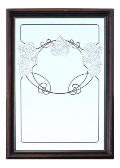 vintage mirror drawing. vintage art nouveau hollywood regency large wall ornate mirror drawing