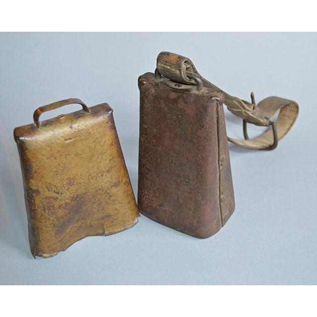 Image of Antique Primitive Cow Bells - A Pair
