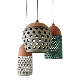 Heather Levine Ceramic Pendant Lamps - Set of 3