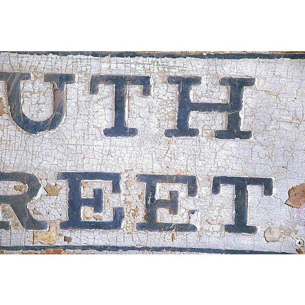 Image of New York 19th C. Iron South Street Sign