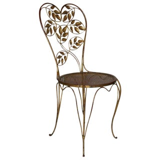 Gilt Italian Heart Back Chair