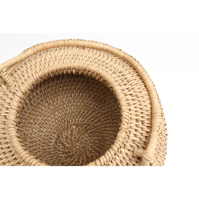Large Vintage Hand-Woven Herb Basket with Handle - Image 3 of 6