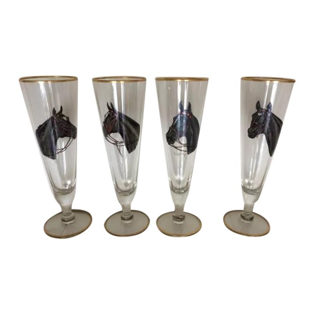 Image of Vintage Cyril Gorainoff Horse Glasses Signed