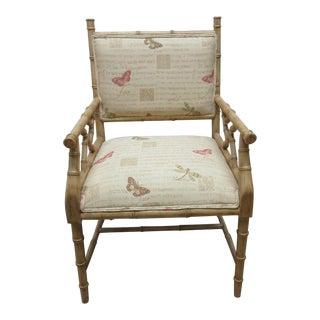 Vintage Faux Bamboo Regency Armchair