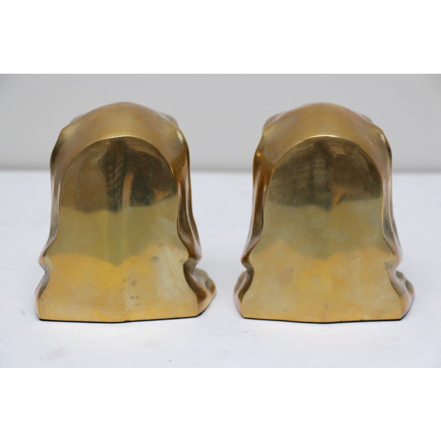 Solid Brass Labrador Bookends - A Pair - Image 7 of 8