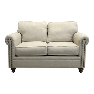Ivory Rolled Arm Loveseat