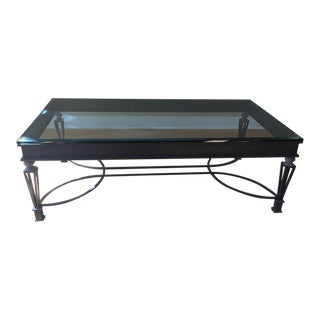 Kreiss Glass and Iron Coffee Table