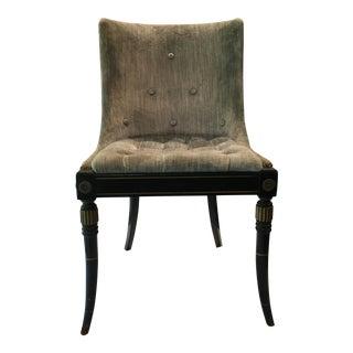 Federal Blue Velvet Chair