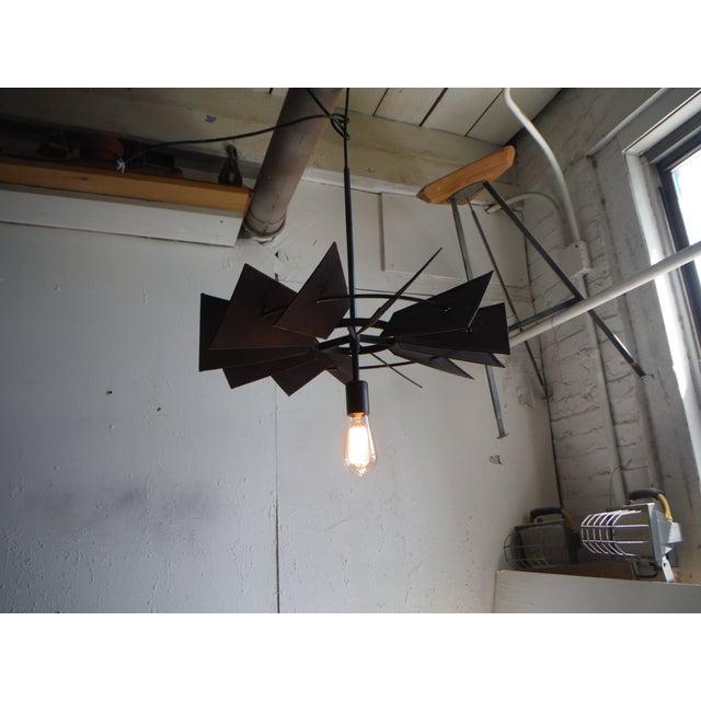 Vintage Rustic Windmill Pendant Light - Image 5 of 6
