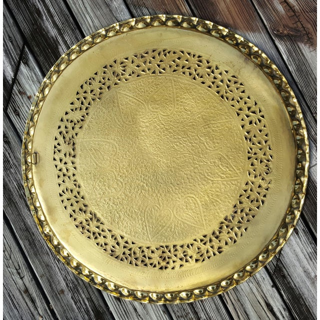 Image of Perforated & Scalloped Brass Tray