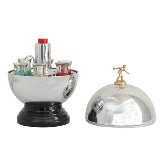 Bowling Bowl Decanter with Glasses