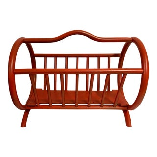 Mid-Century Orange Magazine Rack
