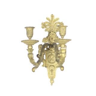 Double Arm Beaux Arts Figural Sconces (PAIR)