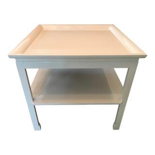 Vintage John Stuart Chinoiserie White Lacquer Side Table