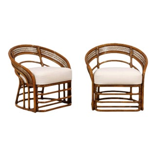 Fabulous Pair of Restored Rattan Chairs by Brown Jordan- Four Available