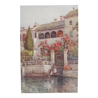 1905 Ella du Cane Print, Villa Garden, Lago D'Orta