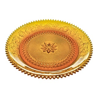 Amber Glass Tray