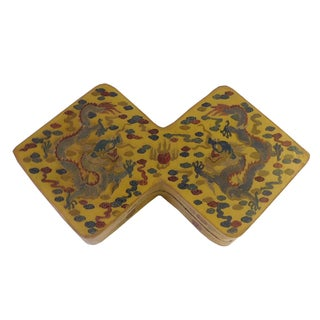 Yellow Lacquer Double Rhombus Painted Box