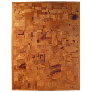 Japanese Modernist Wood Collage by Aoki