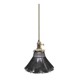Antique Small Holophane Pendant Light