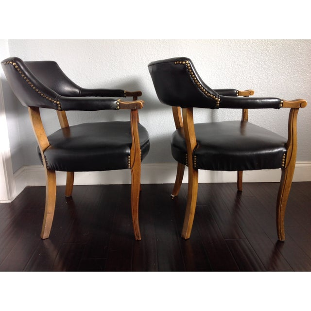 Mid-Century Style Black Armchairs - A Pair - Image 3 of 11