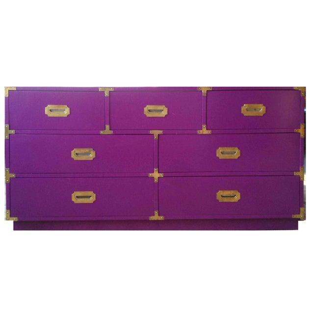 Vintage Campaign Purple Chest - Image 10 of 10