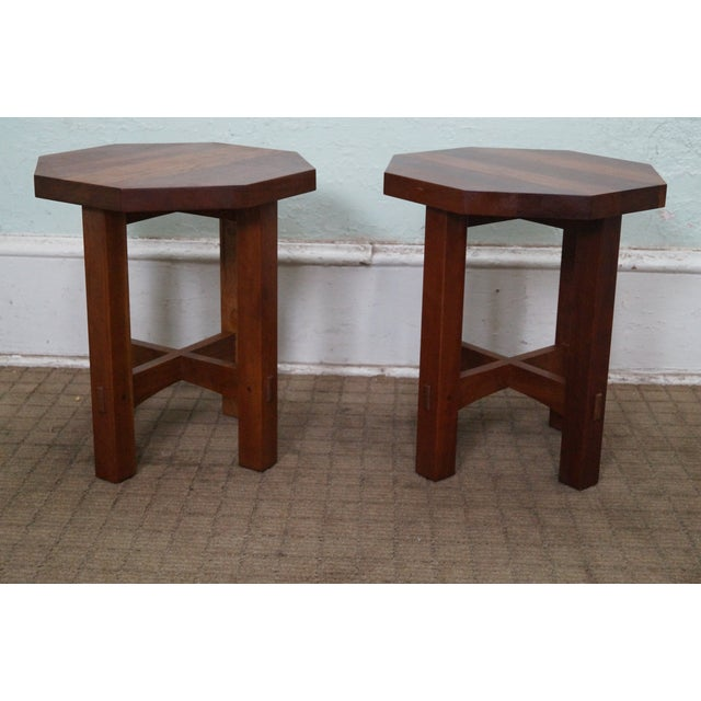 Stickley Mission Style Cherry Side Tables - B Pair - Image 2 of 10