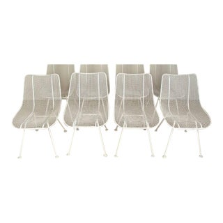Vintage Mid-Century Modern Russell Woodard White Sculpture Chairs- Set of 4