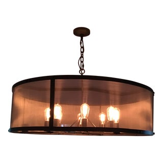 Restoration Hardware Riveted Mesh Chandelier