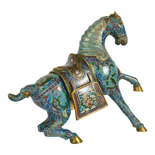 Chinese Cloisonne Horse Statue
