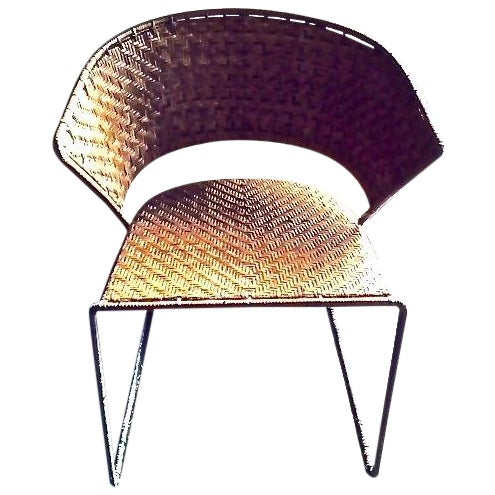 Image of French Woven Side Chairs - A Pair