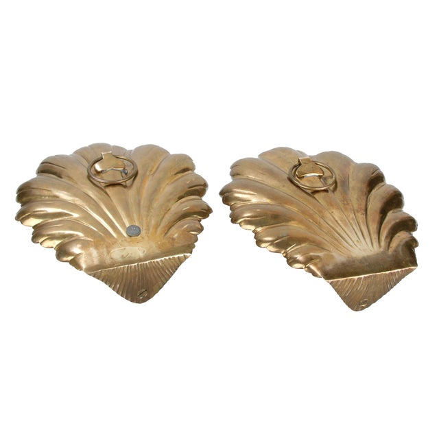 Brass Candle Wall Sconces - Pair - Image 5 of 8