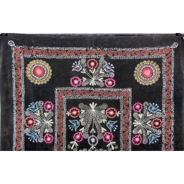 Embroidered Vintage Velvet Suzani - Image 4 of 7