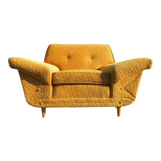 Mid-Century Modern Kroehler Yellow Lounge Chair
